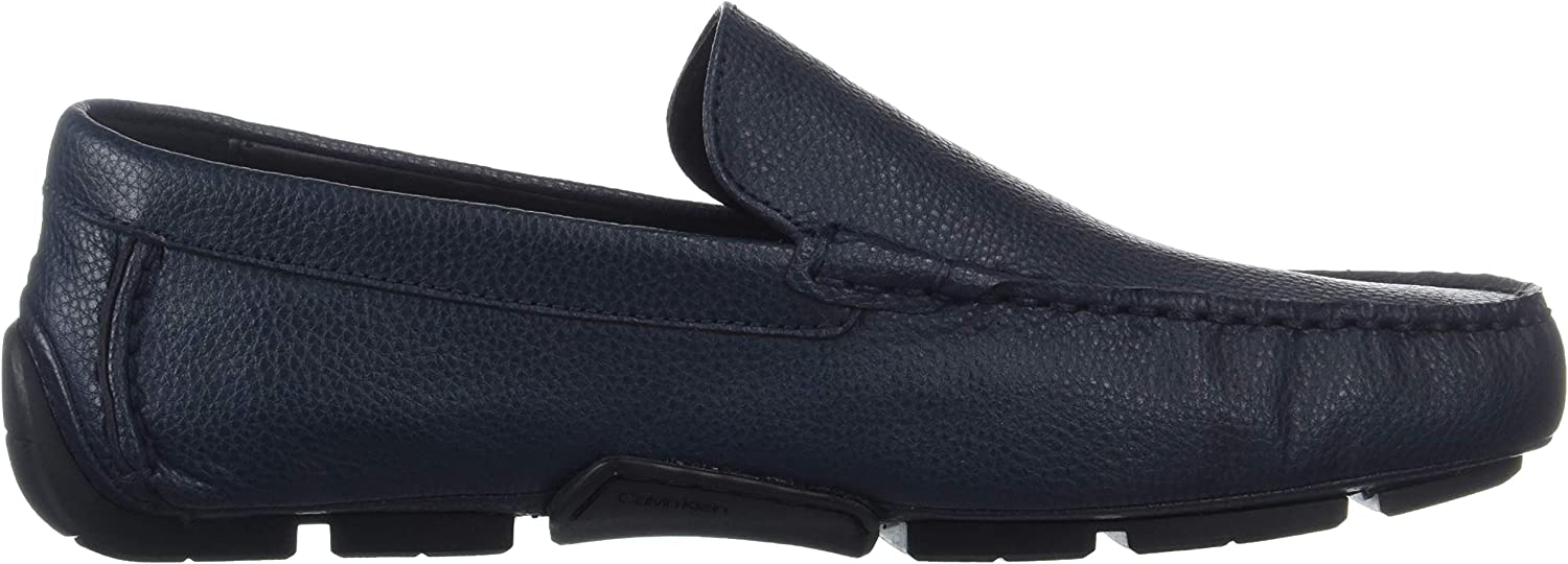 Calvin Klein Mens F0888 Kaleb Tumbled Leather Dark Navy