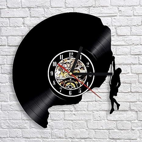 TIANZly Escalada 3D Arte Reloj de Pared Decorativo Reloj de ...