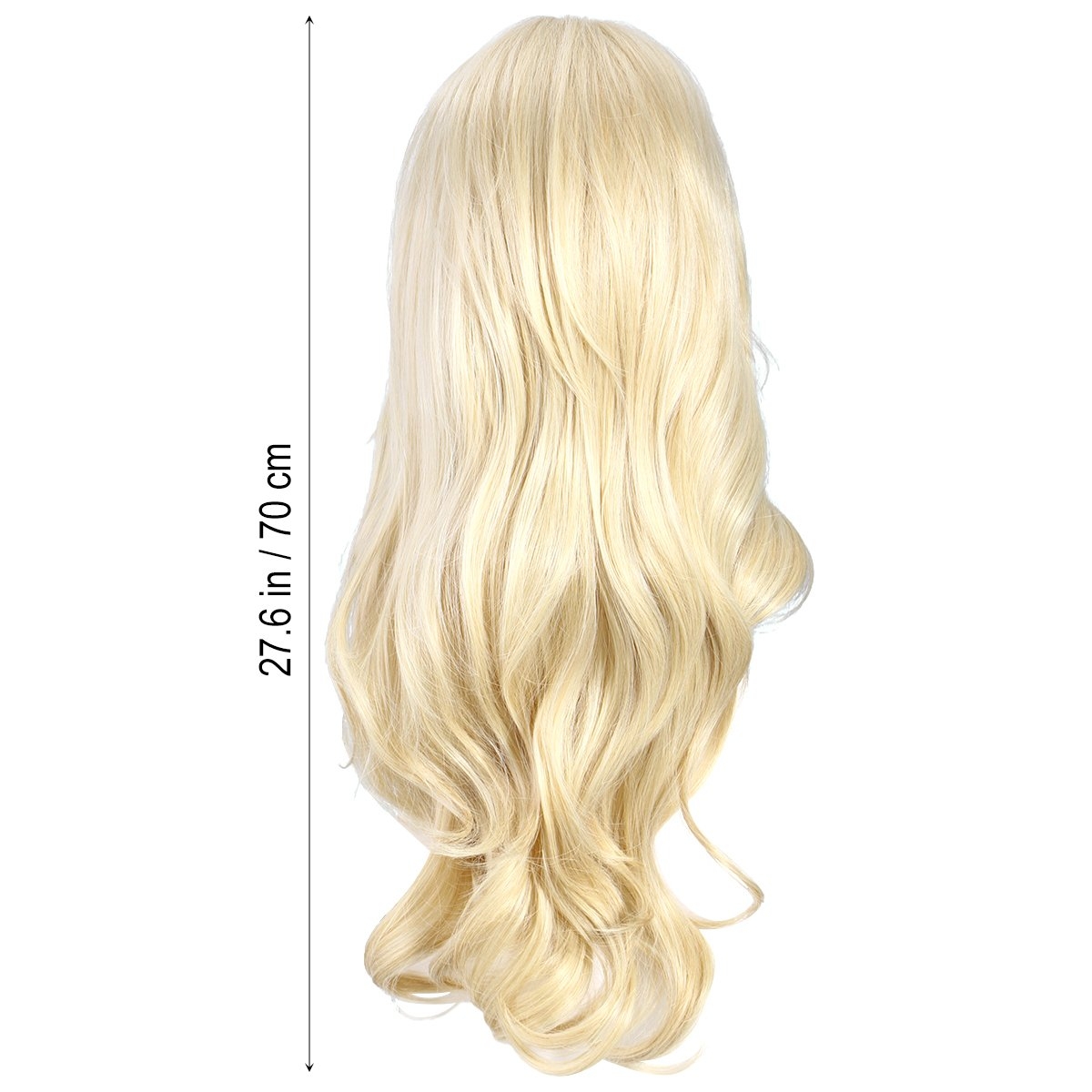 Amazon.com : Long Blonde Wavy Wig Synthetic Wavy Wigs Cosplay Wigs for Women : Beauty