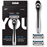 Made For You Men's/Women's 5-Blade Razor System, 1 Handle 2 Refills