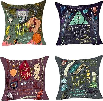 Amazon.com: Juego de 4 fundas de almohada decorativas, funda ...