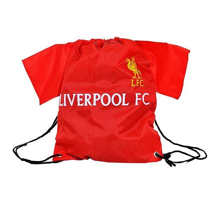 Liverpool FC - Mochila de cuerdas oficial (Talla Única/Rojo)