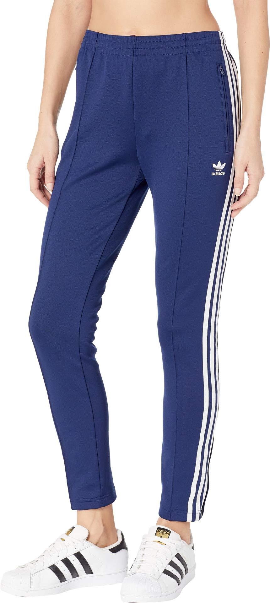 blue adidas track pants womens