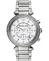 Michael Kors Women's 39mm Silvertone Parker Chronograph Watch