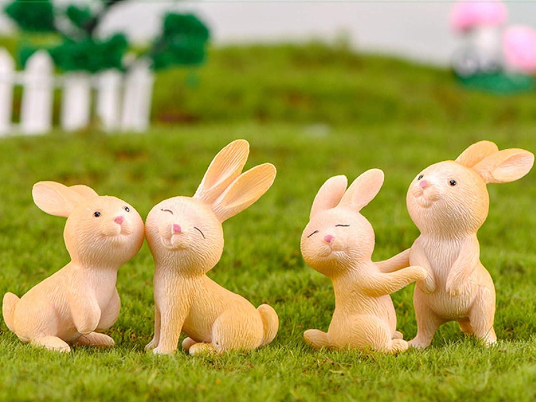 Bing Bunny Cake Topper Pastel Decoraci/ón Suministros 6Pcs Bunny Figures Toy Bing Bunny Juguetes Mu/ñeca Hecha a Mano Mu/ñeca Decoraci/ón para ni/ños Animales Juguetes Set