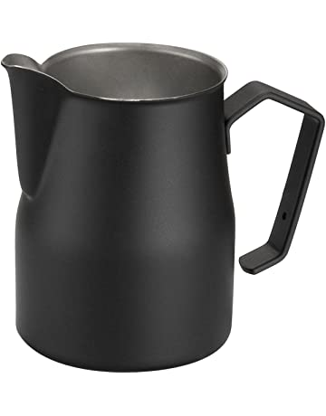 Motta Jarra para emulsionar Leche, Acero Inoxidable, Negro, centimeters