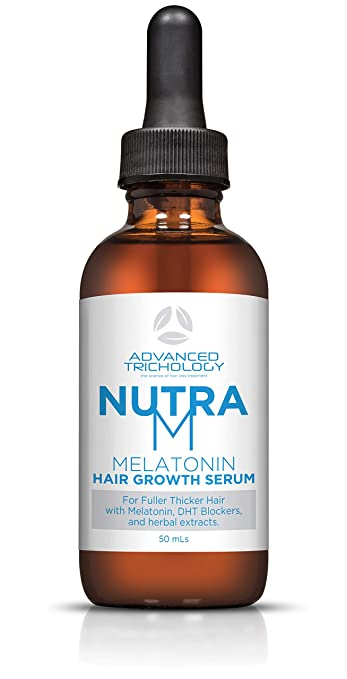 Amazon.com : NutraM Topical Melatonin Hair Growth Serum for Thinning Hair - Clinically Researched - 2oz : Beauty