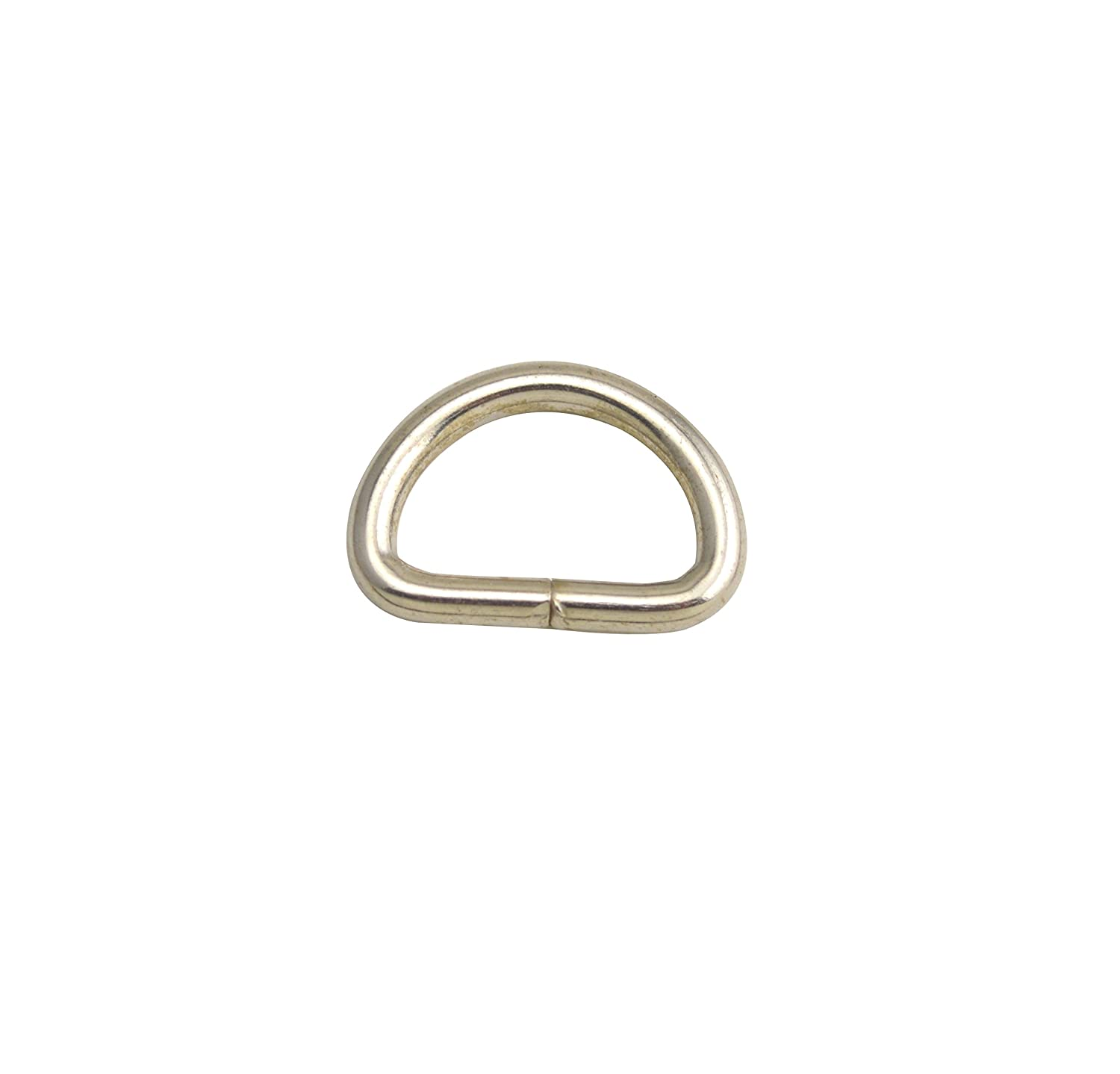 Wuuycoky 0.5 Inner Diameter Silvery D Rings Buckles D-ring Non-welded For Webbing Strapping Pack of 100