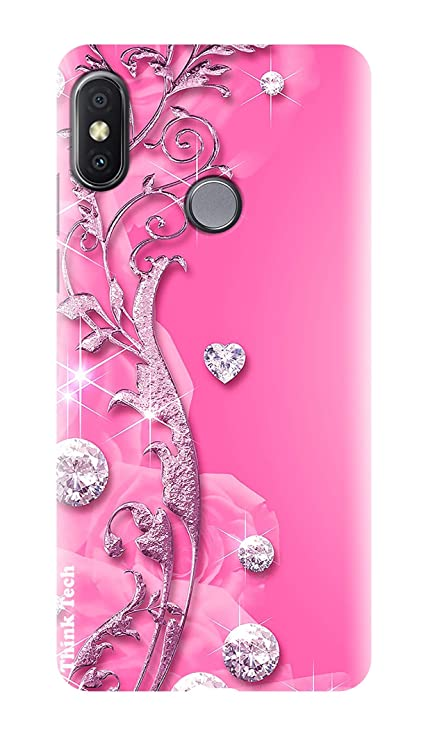 the latest a51b9 e29f3 Think Tech Xiaomi Redmi Note 6 Pro Designer Back Cover I Redmi Note 6 Pro  Printed Back Cover - Pink Fancy Cute Stone Woman Girl