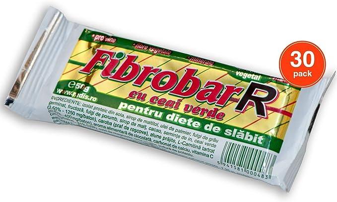 Fibrobar R con té verde - Barra de proteína - Paquete de 30 barras | por REDIS: Amazon.es: Hogar