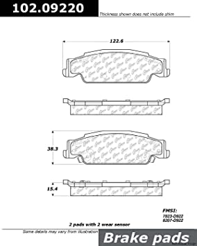 Centric Parts 102.12100 102 Series Semi Metallic Standard Brake Pad