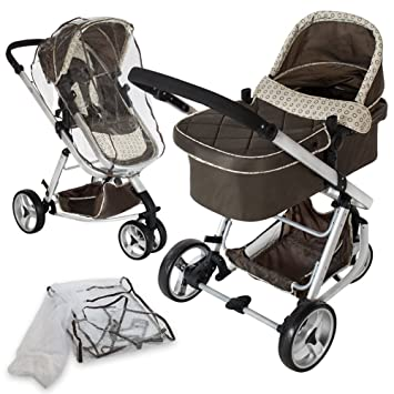 TecTake 3 en 1 Sillas de paseo coches carritos para bebes convertible - disponible en diferentes