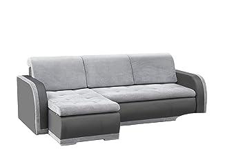 Prächtig mb-moebel kleines Ecksofa Sofa Eckcouch Couch mit Schlaffunktion @AY_35