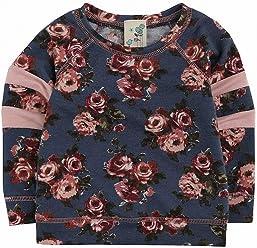228b00223a0a Lily Bleu Navy Baby Girls Floral Printed T-Shirt  24 Blue 2T