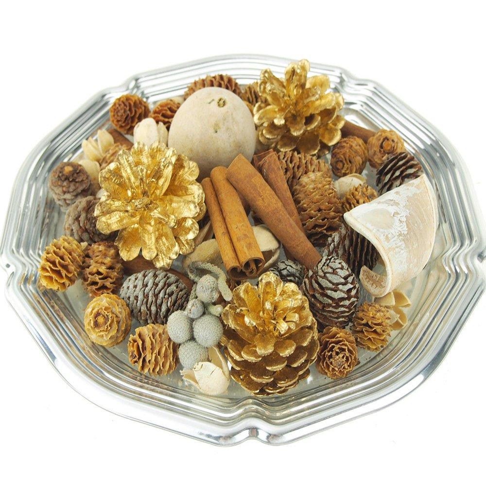 Homeford FGR000000BBSVASP Vanilla Spruce Botanical Blend Fragrance Potpourri, 6, Metallic Gold 6