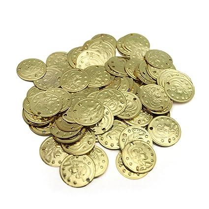 20 Münzen zum annähen Metall Bauchtanz-Kostüm  Schmuck Piraten Münze Geld