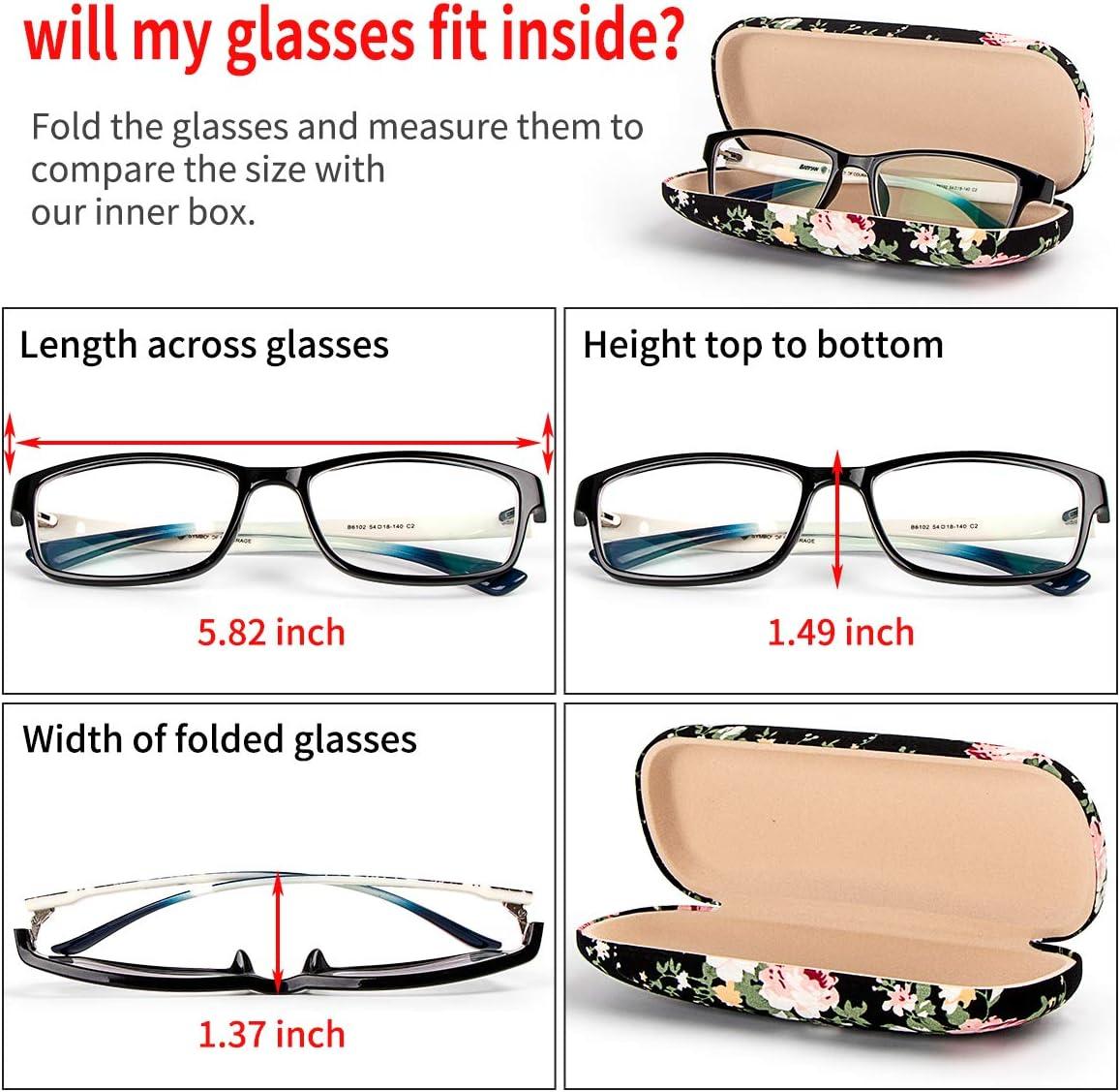 Floral Printed Sunglasses Hard Eyewear Protector Box for Kids FF1 Hard Shell Eyeglass Case Women Girls