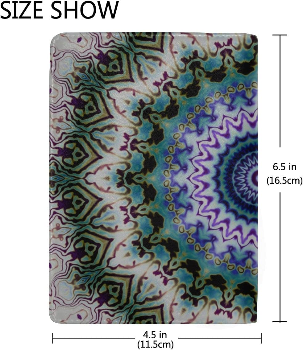 Diy Passport Cover Square Round Mandala Ative Stylish Pu Leather Travel Accessories Uk Passport Cover For Women Men