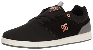 DC Men's Cole Signature 2 Skate Shoe, Black/Charcoal, 6 M US