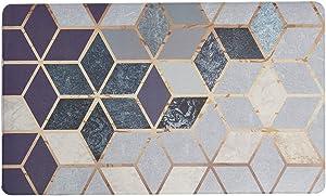 U'Artlines Anti Fatigue Kitchen Floor Mat, Comfort Heavy Duty Standing Mats,Waterproof PVC Non Slip Washable for Indoor Outdoor (18x30Inch, Geometric Patterns)