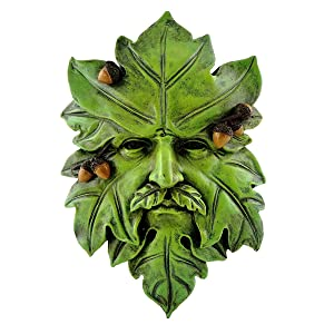 Top Collection Garden Acorn Greenman Hanging Plaque