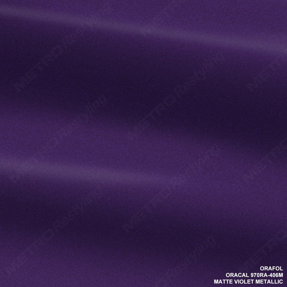 Oracal 970ra-406 mマットバイオレットメタリックビニール車ラップフィルム 5ft x 4ft (20 Sq/ft) パープル 970RA-406M B00AI6AGU0   5ft x 4ft (20 Sq/ft)