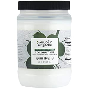 Wildly Organic Centrifuge Extracted Organic Coconut Oil - Organic Virgin Coconut Oil Centrifuge - Coconut Oil For Cooking - Coconut Oil Organic - Refined Coconut Oil - Pure Coconut Oil - 28 FL OZ