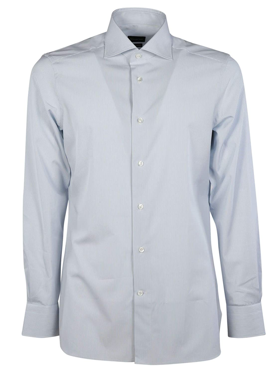 50b894872139 Z Zegna Men's 3010789MS0BA 3010789MS0BA 3010789MS0BA Light blueee Cotton  Shirt e97383