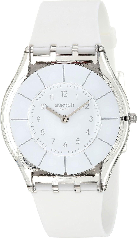 Swatch Reloj Analógico de Cuarzo para Mujer con Correa de Silicona – SFK360