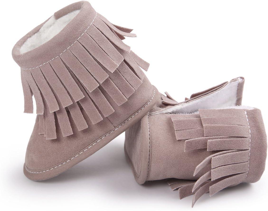 Butterme Scarpe da ginnastica infantile del neonato di unisex Scarpe da tennis della peluche della peluche Prewalker antiscivolo Stivali da neve caldi esterni 0-6 Months