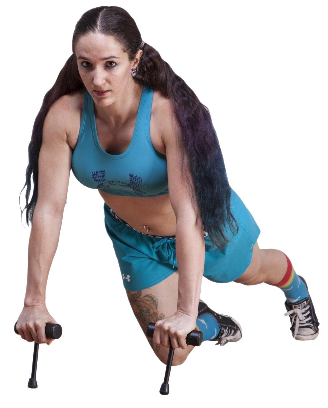 OFGアイソメPush Up Bar Fitness Exerciseとエクササイズ機器、テクスチャとブラックパウダーコーティング Advanced