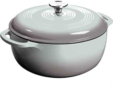 Lodge Gray Enameled Cast Iron 6 Quart Dutch Oven