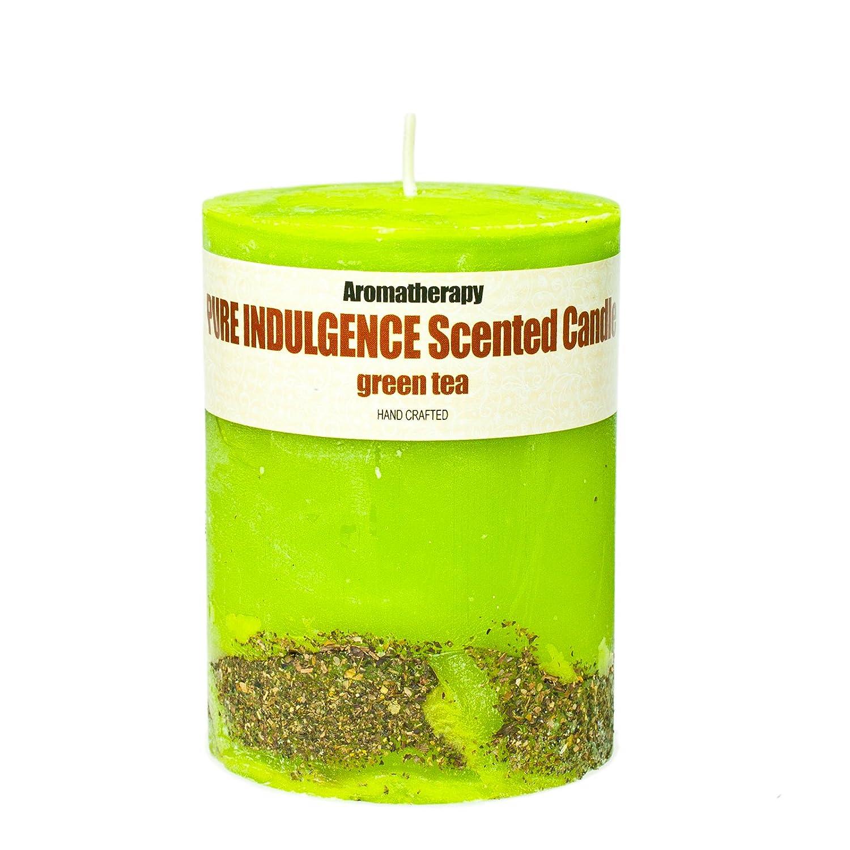 Candela Profumata al Tè Verde (430 g) - Candela di cera fatta a mano! Lunga durata, fino a 60 ore! Scandia Cosmetics