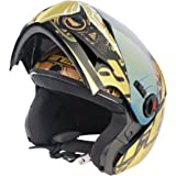 Steelbird A1 Ares Royal Flip-Up Helmet (Golden, L)