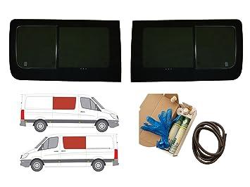 Mano izquierda ventana abatible para puerta corredera, tintado oscuro Mercedes Sprinter (2006 on): Amazon.es: Coche y moto