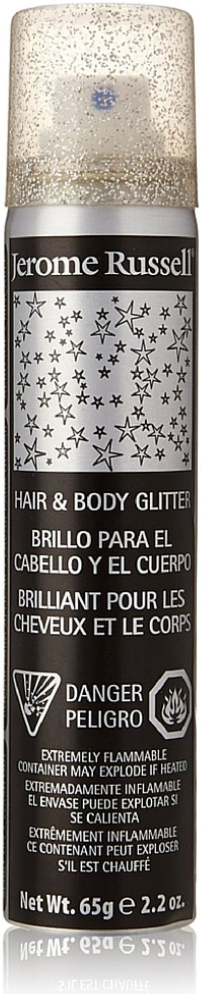 Jerome Russell Hair & Body Glitter Spray, Silver 2.2 oz (Pack of 3)