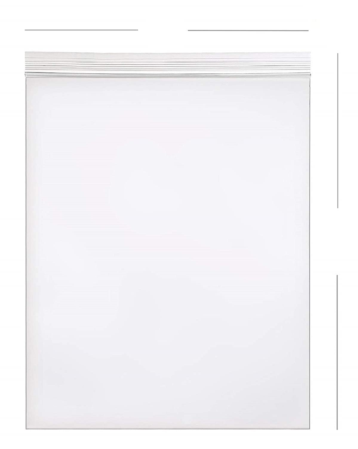 AM-Ink 50-Pcs 14x20 Poly Self Sealing Storage Reclosable Resealable Clear Plastic Bags 2 MIL