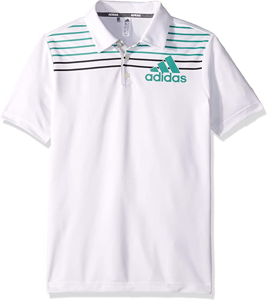 adidas - Polo Deportivo para niño, Niños, Color White/Grey Two ...