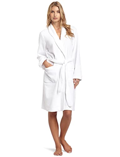 Hanro Women s Delight Short Wrap Robe 77261 at Amazon Women s Clothing  store  Bathrobes 798fb5f96