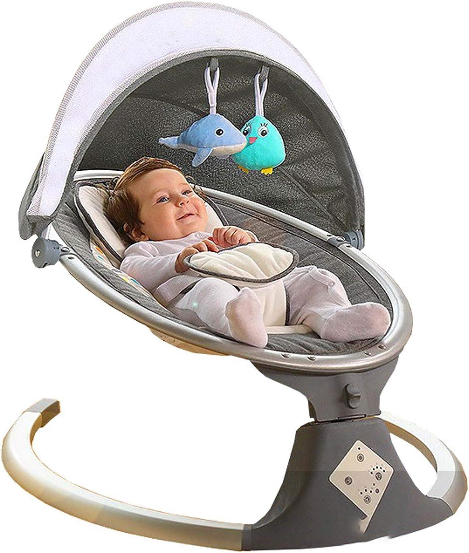 ADM6 Mecedora de niños del Control Remoto, Seguridad de Cinco Puntos de la Hebilla, antivuelco de diseño, Cinco Velocidad de Ajuste, sincronización Inteligente, el Dormir del bebé Mecedora