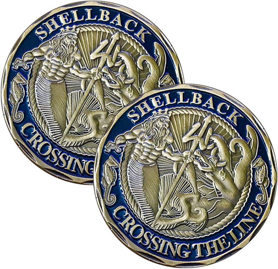 Military U.S Decal Collection Navy Shellback Crossing The Line 3 pc