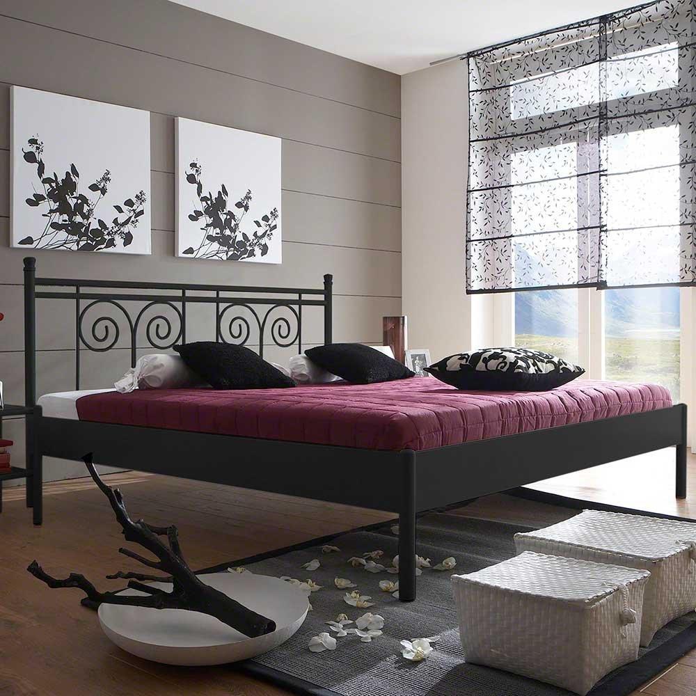Pharao24 Design Jugendbett in Schwarz Eisen Ausführung 9