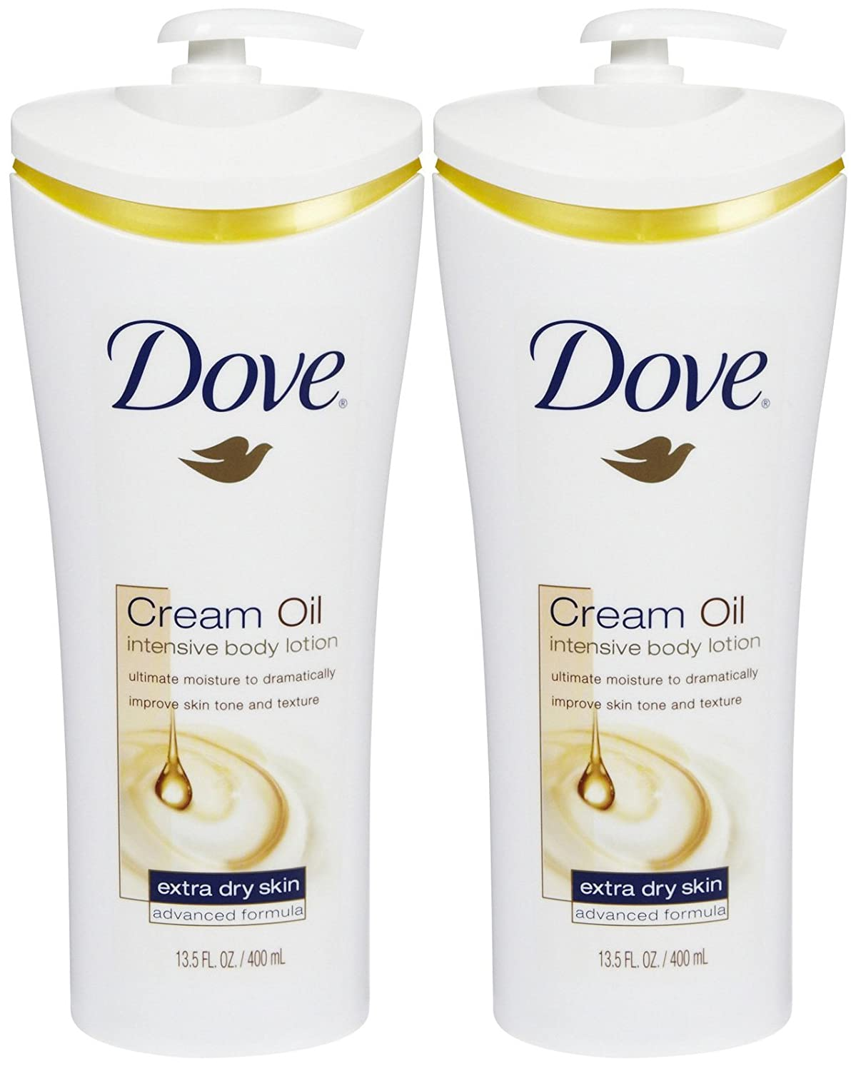 Dove Cream Oil Intensive Body Lotion - 13.5 oz - 2 pk