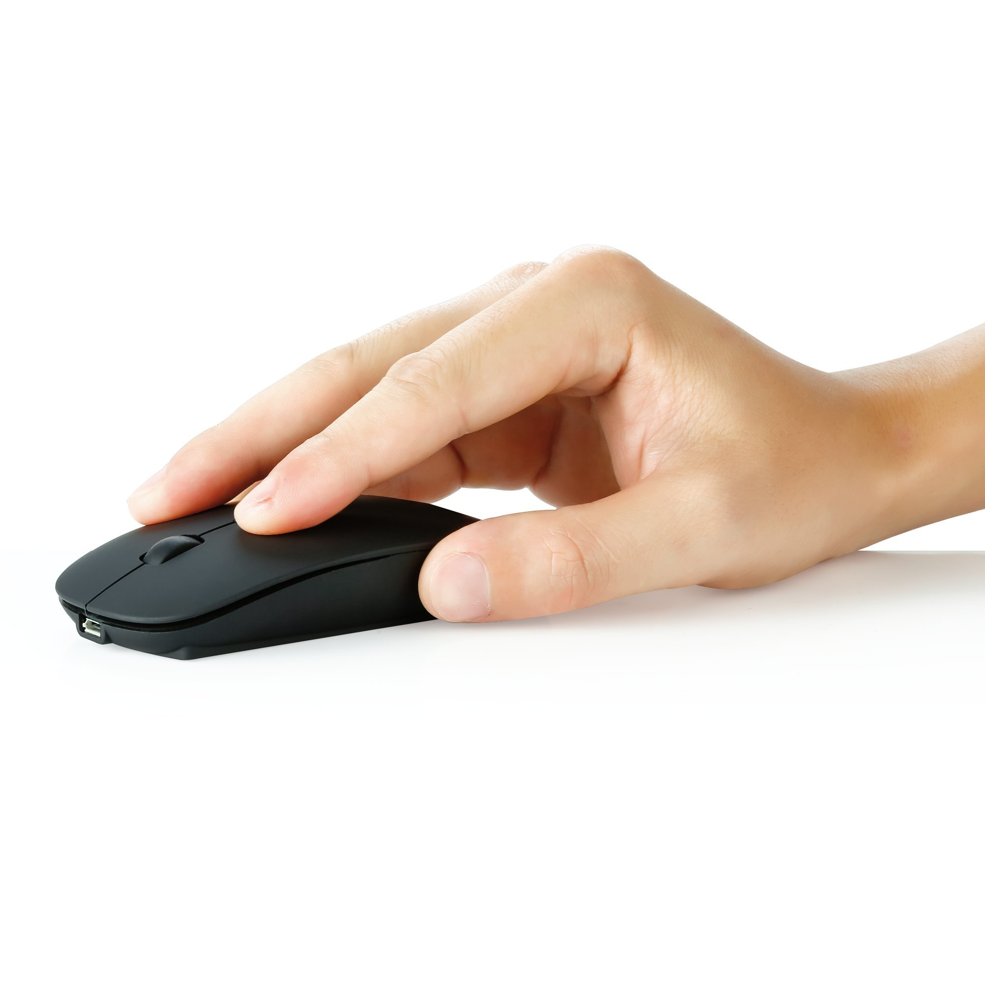 UHURU Rechargeable Bluetooth Wireless Mouse for PC, Mac, Laptop, Android Tablet (Black) by UHURU (Image #3)