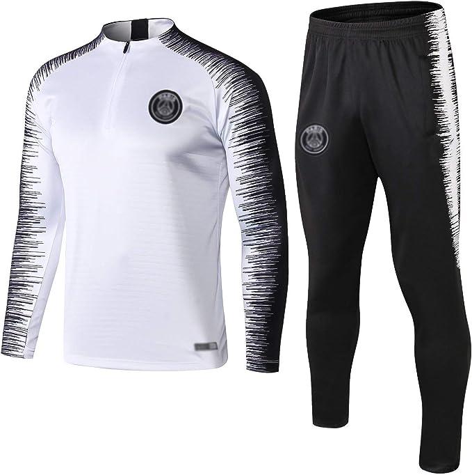 Pạṛịṣ Football Club Football Training Suit Mens Adult Football Tracksuit Uniform-Mens Spring Autumn Adult Long Sleeve Tracksuit Competition Team Sportswear Unisex