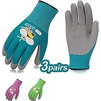 guantes de jardín las señoras motivo floral de 8 gr de trabajo 3 pares guantes
