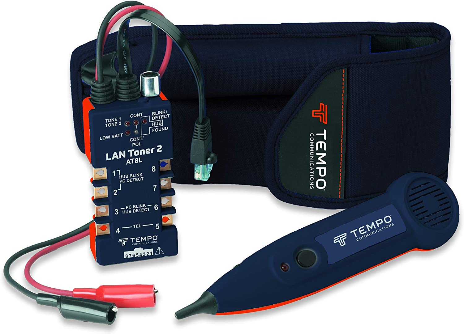 Tempo Communications AT8LK LAN Tone Generator and Probe Kit – Trace Wires and Test Local Area Network Cabling (Latest Model)