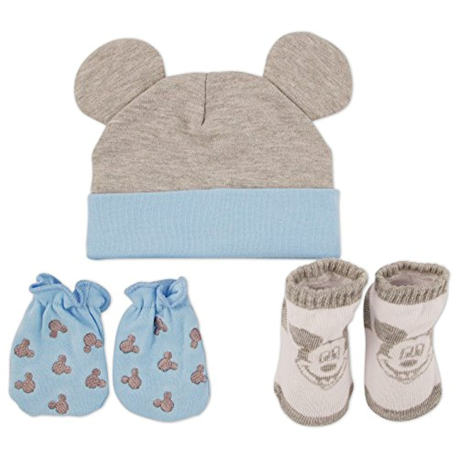 Amazon Disney Baby Boys Mickey Mouse Hat Mitts And Socks Take
