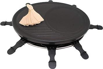Raclette Parrilla Top Cook con 8 sartenes para 8 personas ...