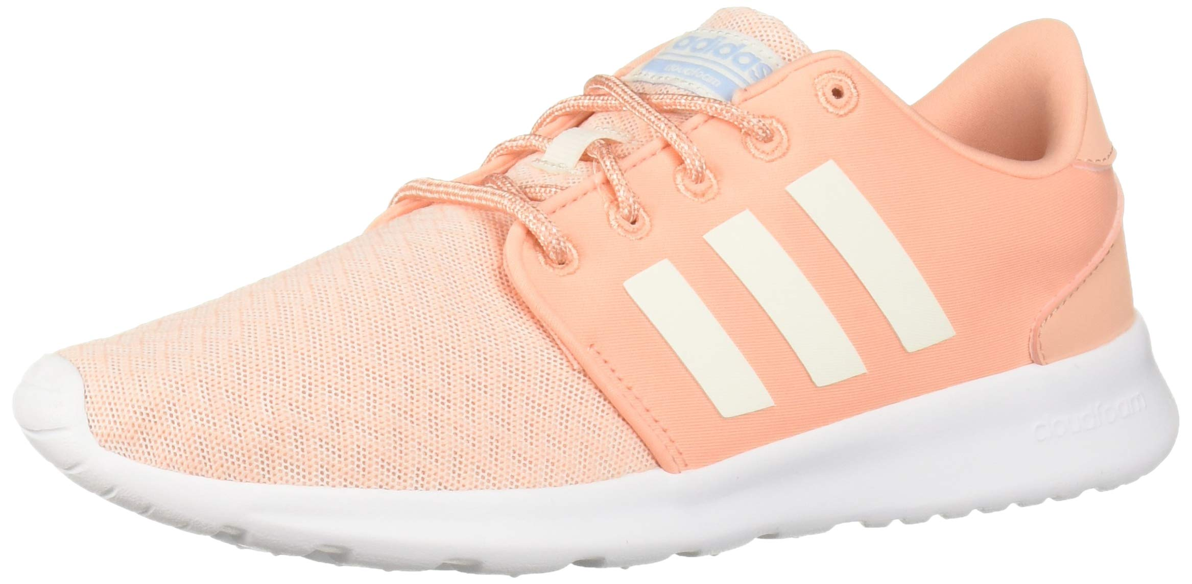 adidas Women's Cloudfoam QT Racer Running Shoe, Pink/Cloud White/Glow Blue, 5.5 M US by adidas